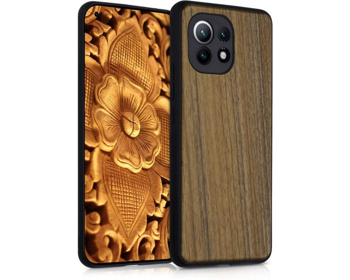 KWmobile Wooden Case (54377.18) Θήκη Ξύλινη Dark Brown (Xiaomi Mi 11)