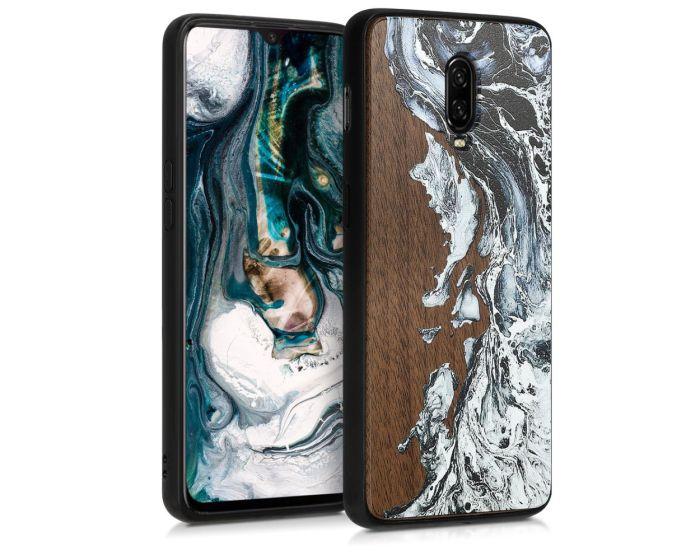 KWmobile Wooden Case Watercolor Waves (46663.04) Ξύλινη Θήκη (OnePlus 6T)