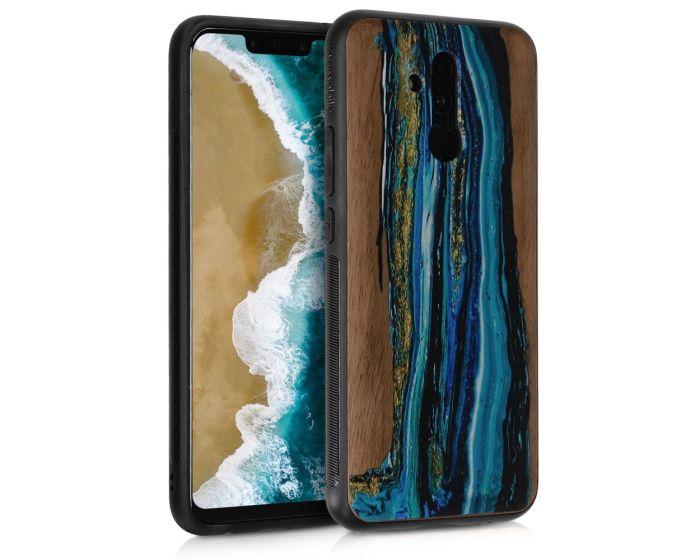 KWmobile Wooden Case Watercolor Waves (46637.04) Ξύλινη Θήκη (Huawei Mate 20 Lite)