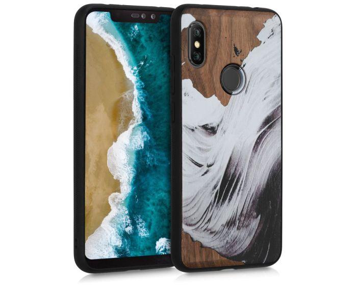 KWmobile Wooden Case Watercolor Waves (47749.02) Ξύλινη Θήκη (Xiaomi Redmi Note 6 Pro)