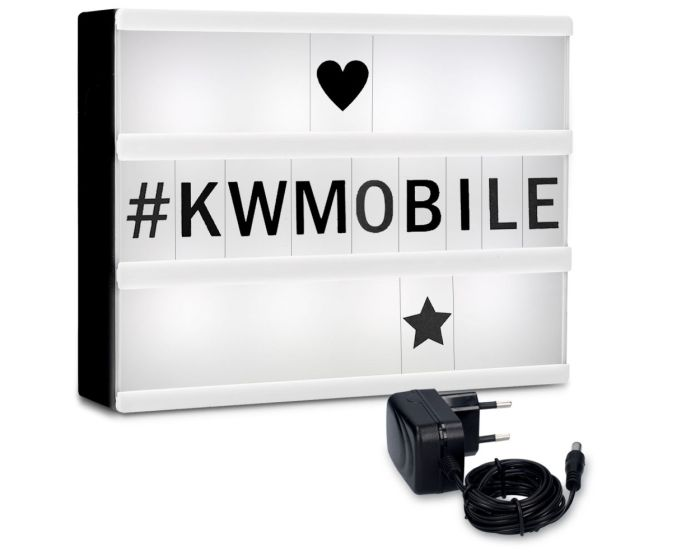 KWmobile Led Cinema Light Box (42475) Φωτεινός Πίνακας Διαστάσεων A4 (252 Black Big and Small Letters)