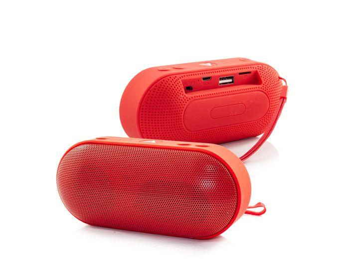L6 Bluetooth Speaker V3.0 + EDR 3W Ασύρματο Ηχείο - Red