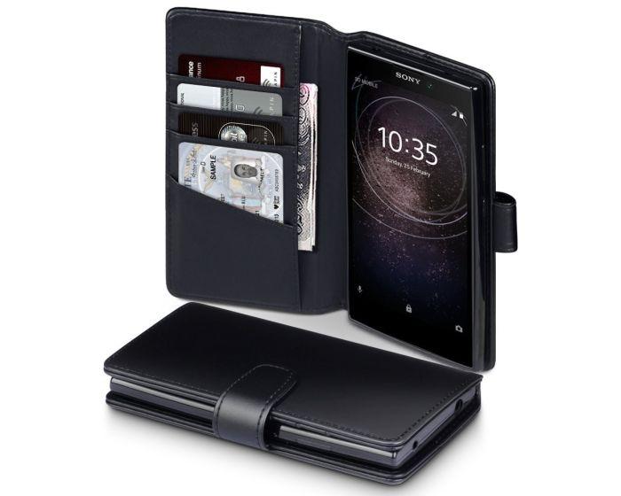Terrapin Δερμάτινη Θήκη Πορτοφόλι Wallet Case (117-005-560) Μαύρο (Sony Xperia L2)
