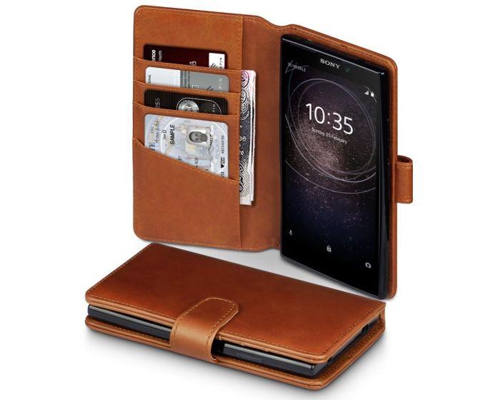 Terrapin Δερμάτινη Θήκη Πορτοφόλι Wallet Case (117-005-561) Καφέ (Sony Xperia L2)