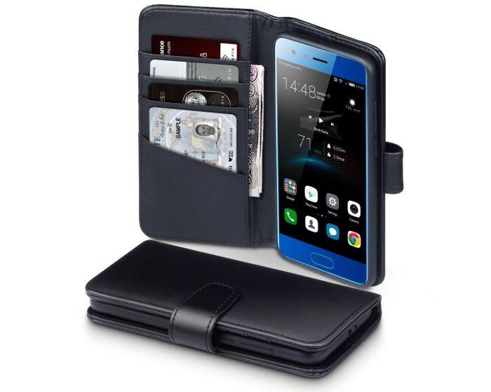 Terrapin Δερμάτινη Θήκη Πορτοφόλι Wallet Case (117-083-152) Μαύρο (Huawei Honor 9)