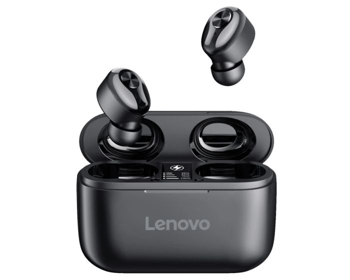 Lenovo HT18 TWS Wireless Bluetooth Earbuds with Charging Box - Black