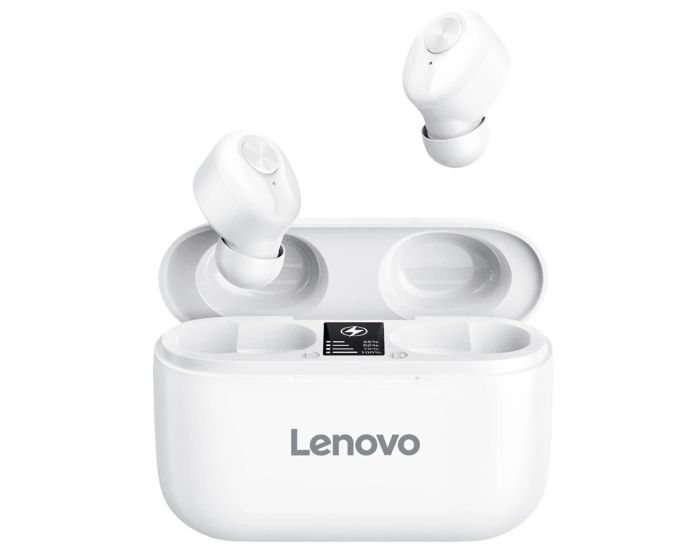 Lenovo HT18 TWS Wireless Bluetooth Earbuds with Charging Box - White