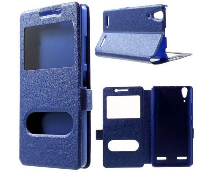 Dual Window Preview Case - Μπλε Sparkle (Lenovo K3 / A6000)