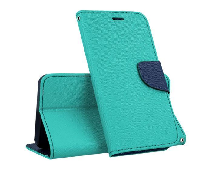 Tel1 Fancy Diary Case Θήκη Πορτοφόλι με δυνατότητα Stand Mint / Navy (LG G5)