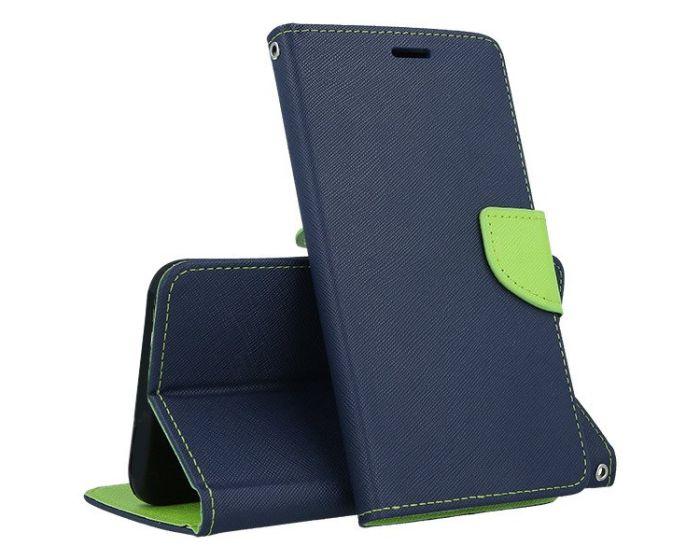 Tel1 Fancy Diary Case Θήκη Πορτοφόλι με δυνατότητα Stand Navy / Lime (LG G5)