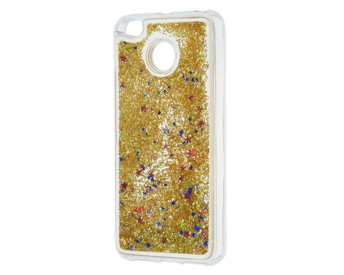 Forcell Liquid Glitter Sand & Stars TPU Case Θήκη με Χρυσόσκονη Gold (Xiaomi Mi A1 / 5X)