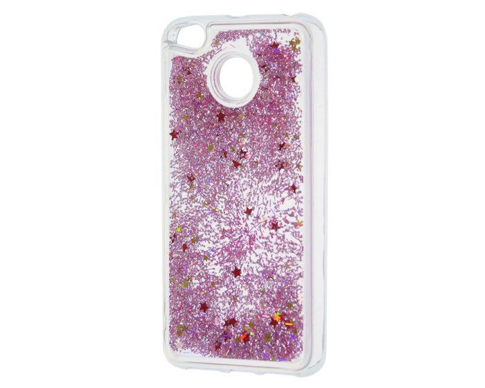 Forcell Liquid Glitter Sand & Stars TPU Case Θήκη με Χρυσόσκονη Pink (Xiaomi Mi A1 / 5X)