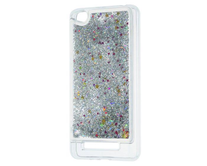 Forcell Liquid Glitter Sand & Stars TPU Case Θήκη με Χρυσόσκονη Silver (Xiaomi Redmi 4A)