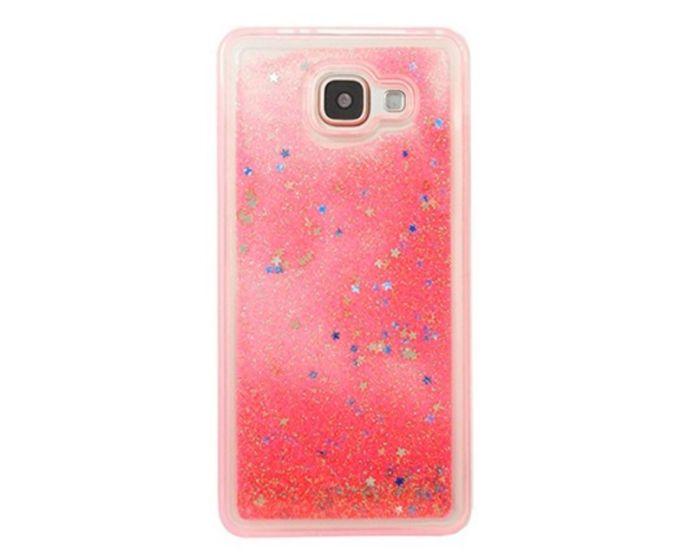 Liquid Glitter Sand & Stars Case - Θήκη με Χρυσόσκονη Coral (Samsung Galaxy A3 2017)