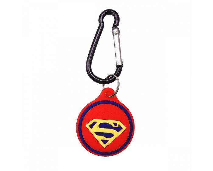 Loco Cartoon Silicone Apple AirTag Θήκη - Superman