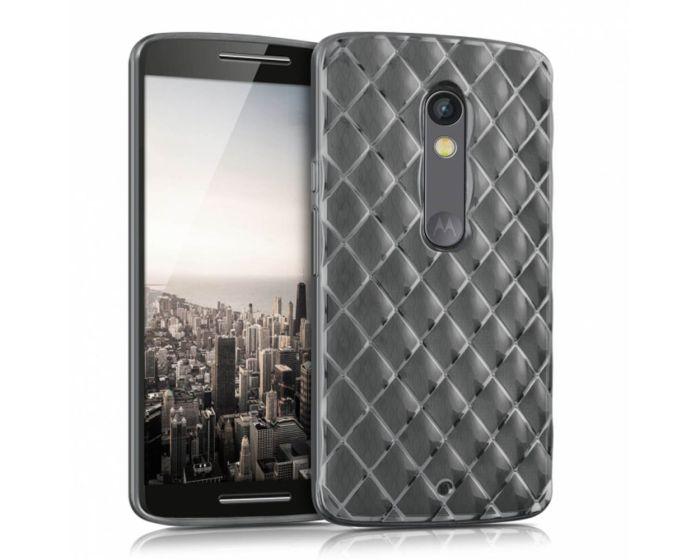 KWmobile Luxury Diamonds Slim Fit Gel Case Θήκη Σιλικόνης (37426.03) Clear / Gray (Motorola Moto X Play)