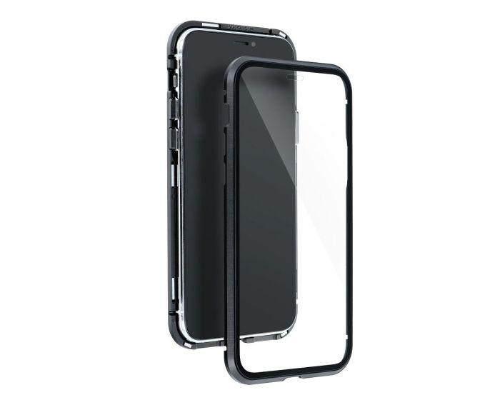 Magneto Full Glass Case - Μαγνητική Θήκη Clear / Black (Samsung Galaxy A32 4G)