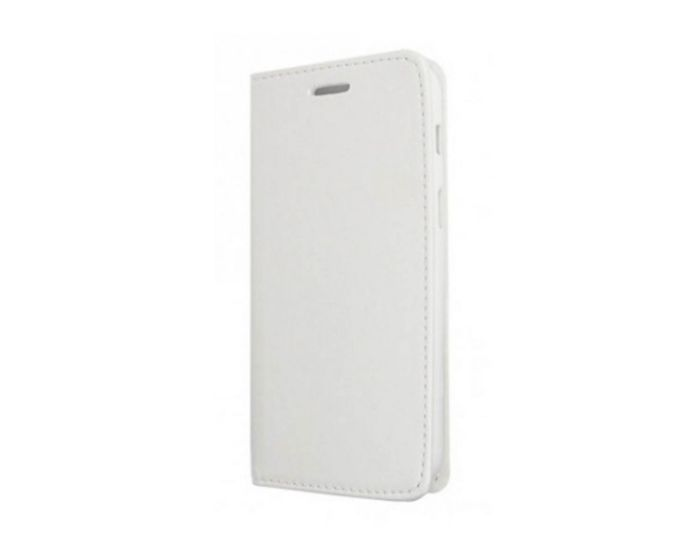 Forcell Magnet Wallet Case Θήκη Πορτοφόλι με δυνατότητα Stand White (Samsung Galaxy A3 2017)