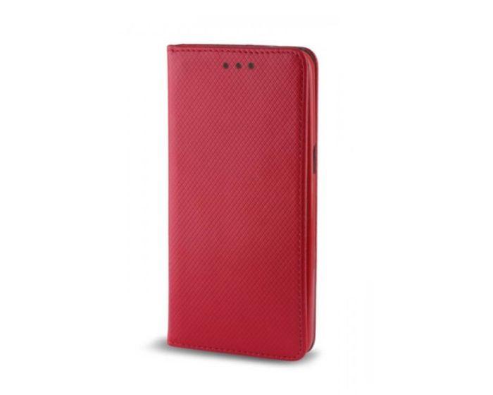 Forcell Smart Book Case με Δυνατότητα Stand Θήκη Πορτοφόλι Κόκκινο (Huawei Nova Plus)