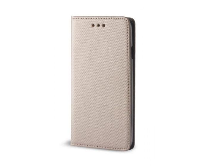 Forcell Smart Book Case με Δυνατότητα Stand Θήκη Πορτοφόλι Χρυσό (Motorola Moto C Plus)