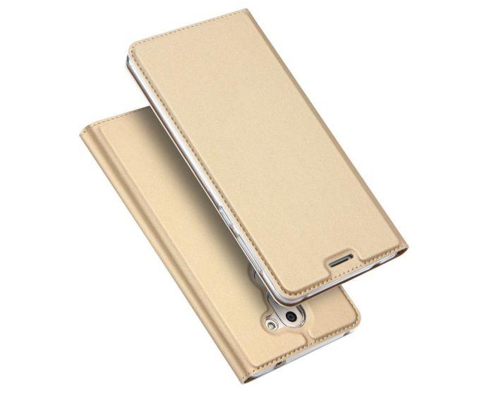 DUX DUCIS SkinPro Wallet Case Θήκη Πορτοφόλι με Stand - Gold (Huawei Mate 9 Lite / Huawei Honor 6X)