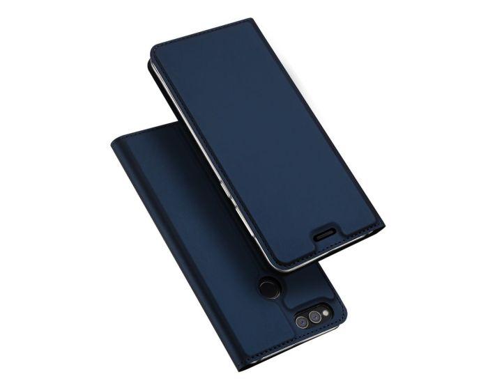 DUX DUCIS SkinPro Wallet Case Θήκη Πορτοφόλι με Stand - Navy Blue (Huawei Honor 7X)