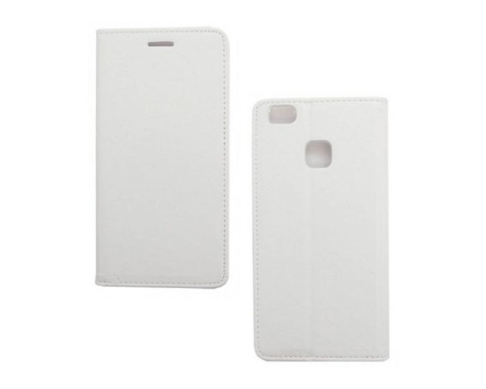 Forcell Magnet Wallet Case Θήκη Πορτοφόλι με δυνατότητα Stand White (Huawei P9 Lite)
