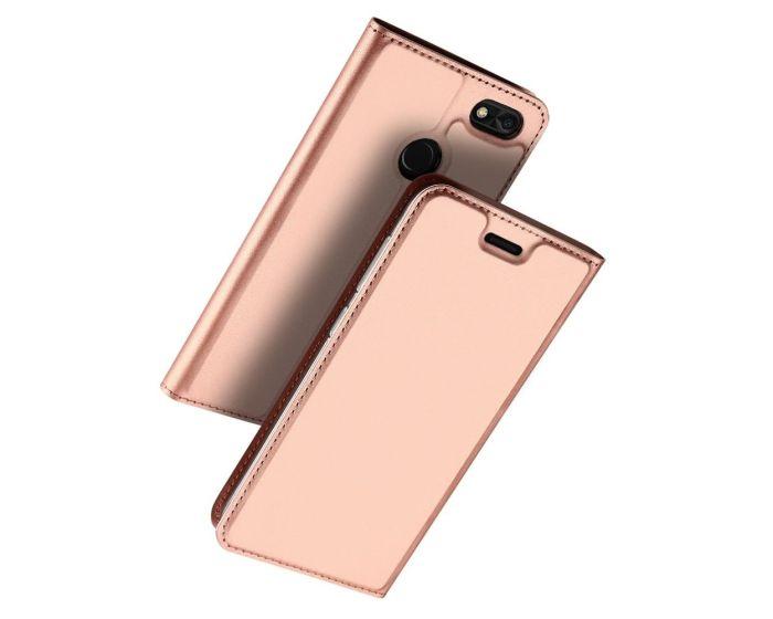 DUX DUCIS SkinPro Wallet Case με Stand - Rose Gold (Huawei P9 Lite Mini)