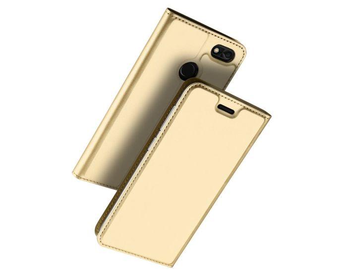 DUX DUCIS SkinPro Wallet Case με Stand - Gold (Huawei P9 Lite Mini)