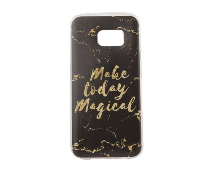 Marble Art Gel Case Magical Θήκη Σιλικόνης Black (Samsung Galaxy S7)