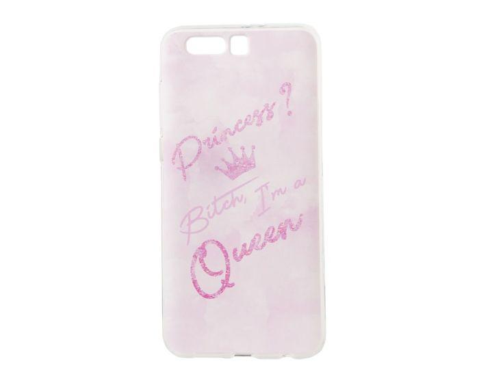 Marble Art Gel Case Queen Θήκη Σιλικόνης Pink (Huawei Honor 9)