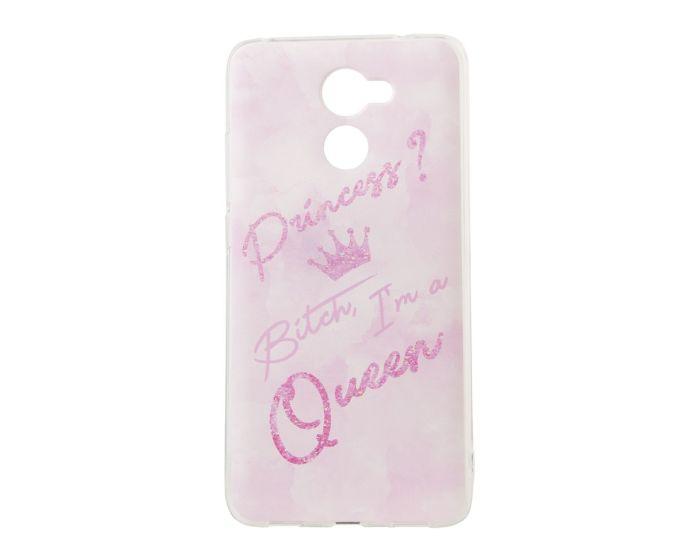 Marble Art Gel Case Queen Θήκη Σιλικόνης Pink (Huawei Y7 / Y7 Prime)