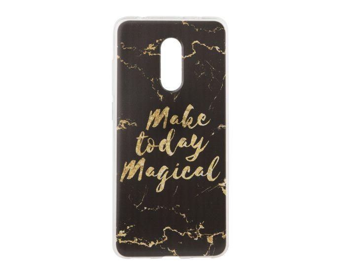 Marble Art Gel Case Magical Θήκη Σιλικόνης Black (Xiaomi Redmi 5)