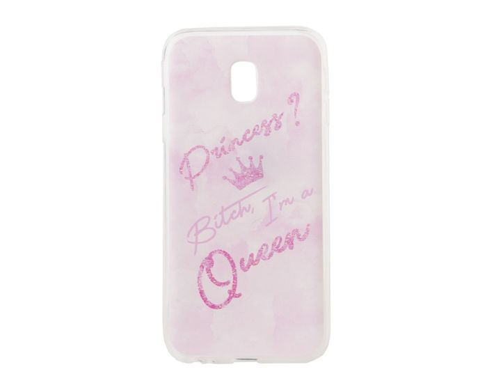 Marble Art Gel Case Queen Θήκη Σιλικόνης Pink (Samsung Galaxy J3 2017)