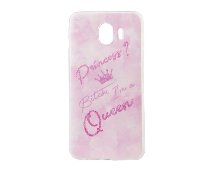 Marble Art Gel Case Queen Θήκη Σιλικόνης Pink (Samsung Galaxy J4 2018)