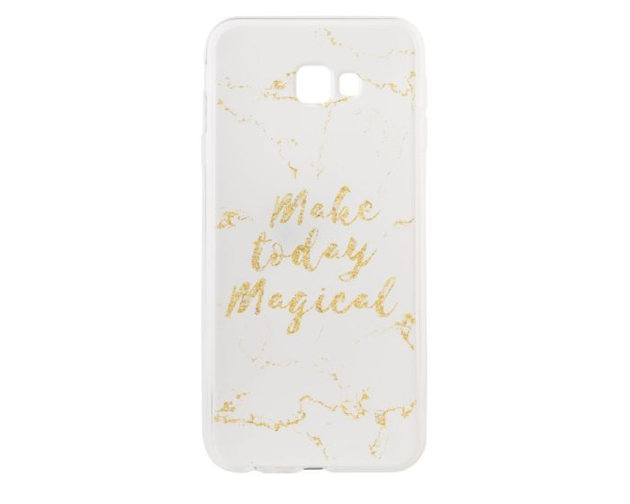 Marble Art Gel Case Magical Θήκη Σιλικόνης White (Samsung Galaxy J4 Plus 2018)