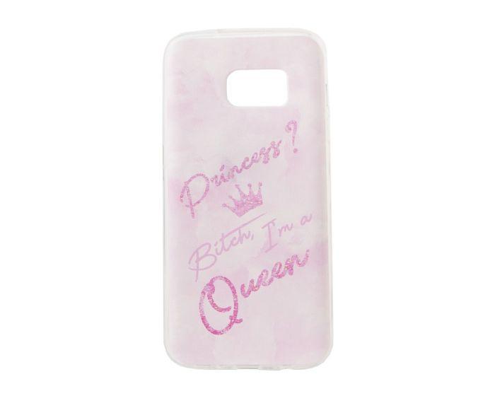 Marble Art Gel Case Queen Θήκη Σιλικόνης Pink (Samsung Galaxy S7)