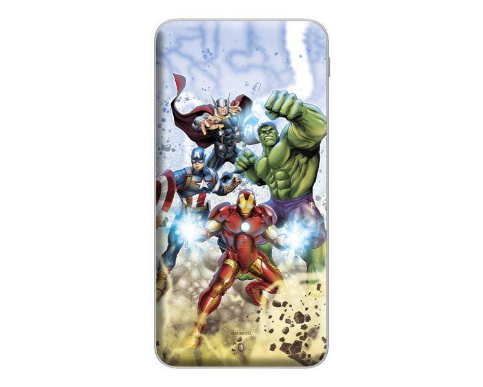 Marvel Avengers Power Bank 10000 mAh Εξωτερική Μπαταρία - 001 Multicolor