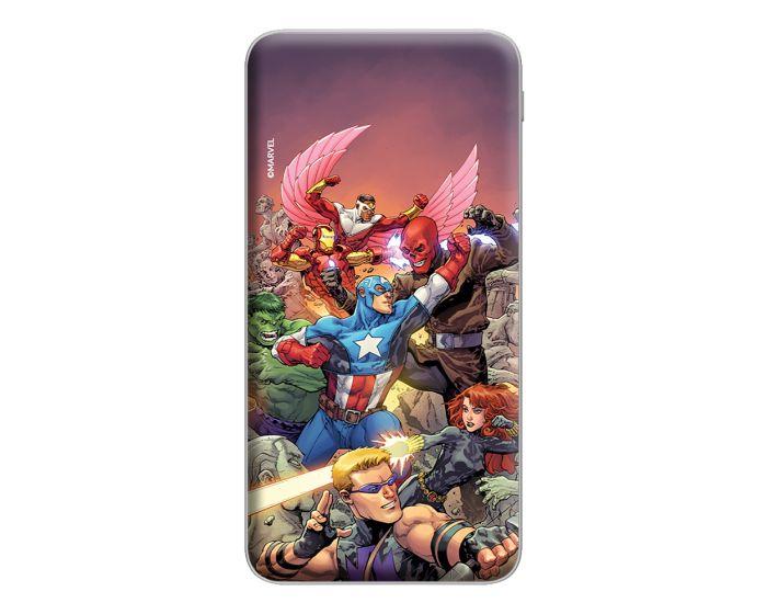 Marvel Avengers Power Bank 10000 mAh Εξωτερική Μπαταρία - 005 Multicolor
