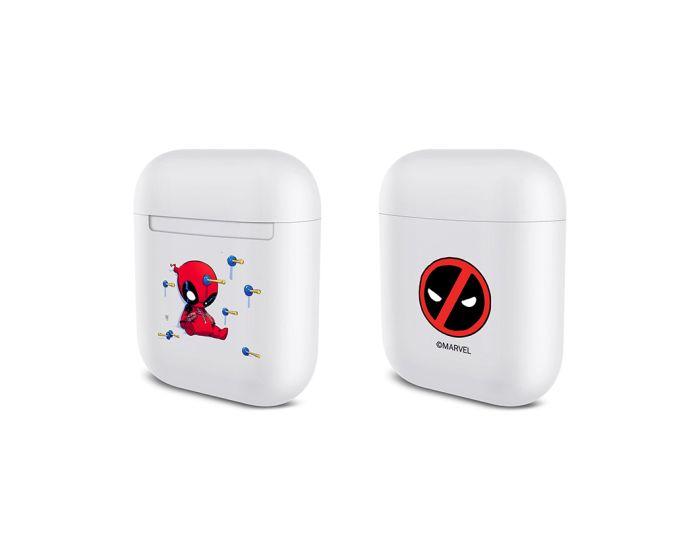 Marvel Durable Case Θήκη για Apple AirPods - Deadpool 002 White