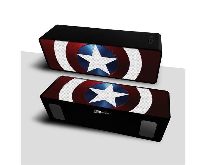 Marvel Bluetooth Wireless 2.1 Speaker 10W Ασύρματο Ηχείο - Captain America 001 Red