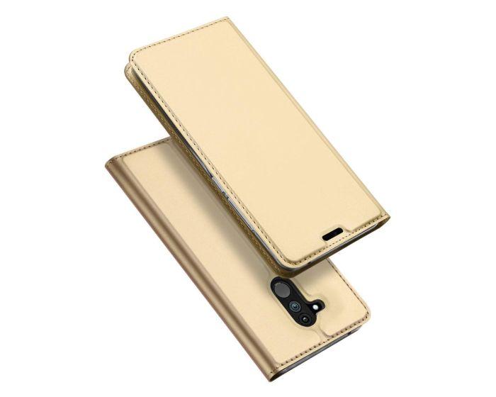DUX DUCIS SkinPro Wallet Case Θήκη Πορτοφόλι με Δυνατότητα Stand - Gold (Huawei Mate 20 Lite)