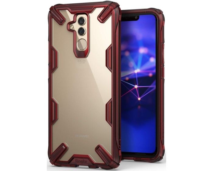 Ringke Fusion-X Σκληρή Θήκη με TPU Bumper (RGK791RED) Ruby Red (Huawei Mate 20 Lite)