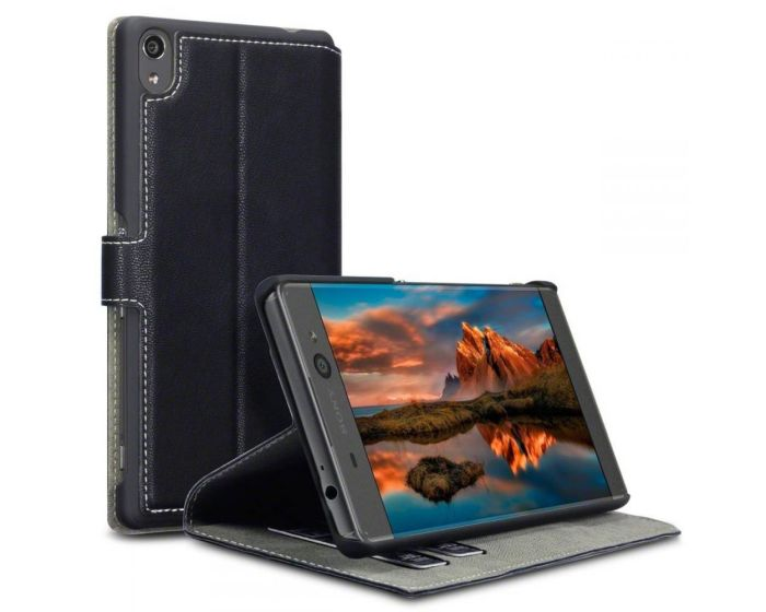 Terrapin Θήκη Πορτοφόλι Stand Case (117-005-416) Μαύρο (Sony Xperia XA Ultra)