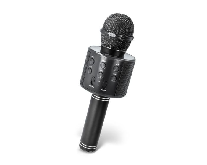 Maxlife MX-300 Microphone with Bluetooth Speaker Ασύρματο Μικρόφωνο Karaoke - Black