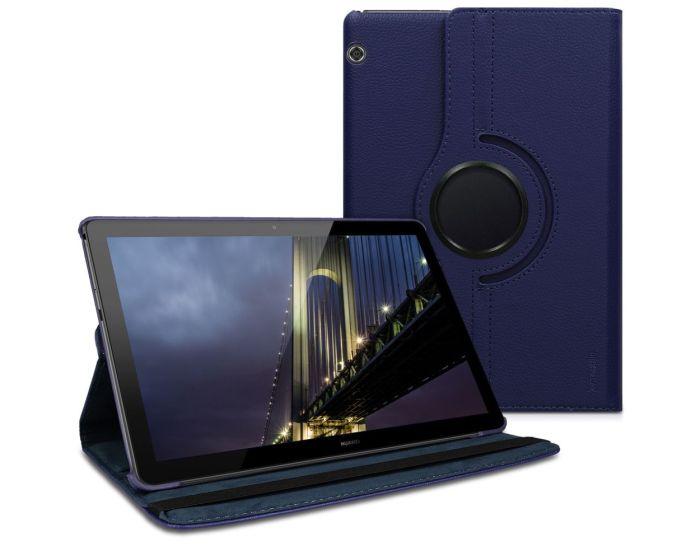 KWmobile Περιστρεφόμενη 360 μοίρες Θήκη Case Stand (46110.17) Σκούρο Μπλε (Huawei MediaPad T5 10.1'')