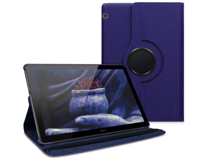 KWmobile Περιστρεφόμενη 360 μοίρες Θήκη Case Stand (46110.04) Μπλε (Huawei MediaPad T5 10.1'')