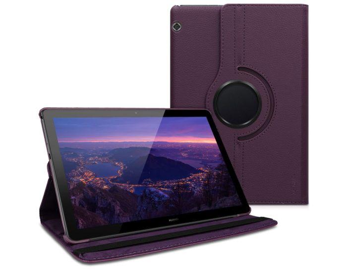 KWmobile Περιστρεφόμενη 360 μοίρες Θήκη Case Stand (46110.38) Μωβ (Huawei MediaPad T5 10.0'')