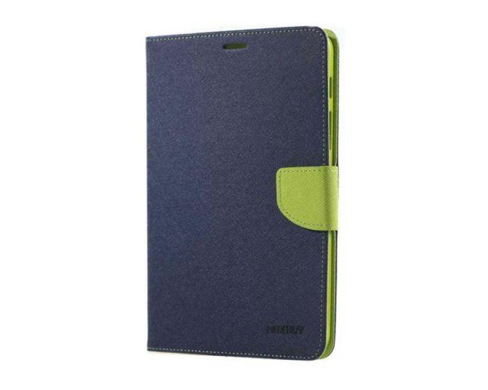 Mercury Fancy Diary Case Θήκη Πορτοφόλι με δυνατότητα Stand Navy / Lime (Samsung Galaxy Tab S2 8.0)