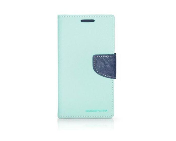 Mercury Fancy Diary Stand Case Θήκη Πορτοφόλι Mint / Navy (Sony Xperia M4 Aqua)